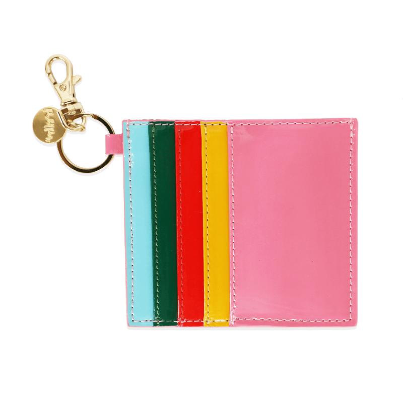 Rainbow Bright Card Holder Keychain Packed Party Credit Card Holder