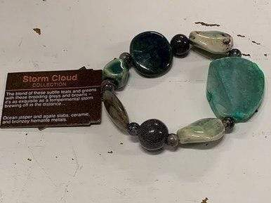 Storm Cloud Chunky Beaded Bracelet Treska