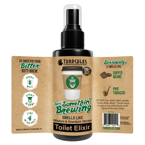 There's Somethin' Brewing Toilet Elixir Turdcules Toilet Elixir