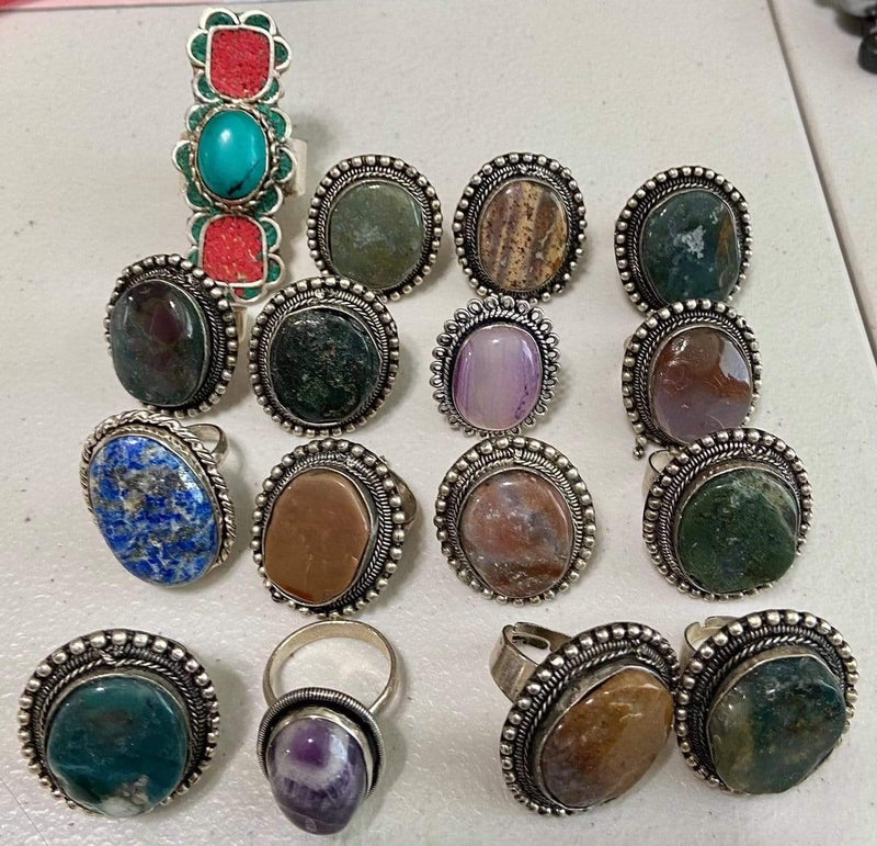 Assorted Stone Adjustable Rings vendor-unknown Ring