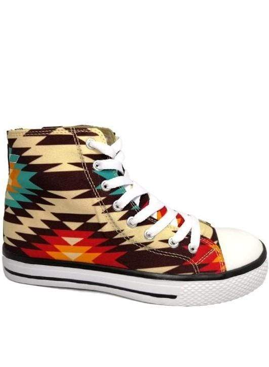 Aztec High Top Sneaker vendor-unknown Shoes