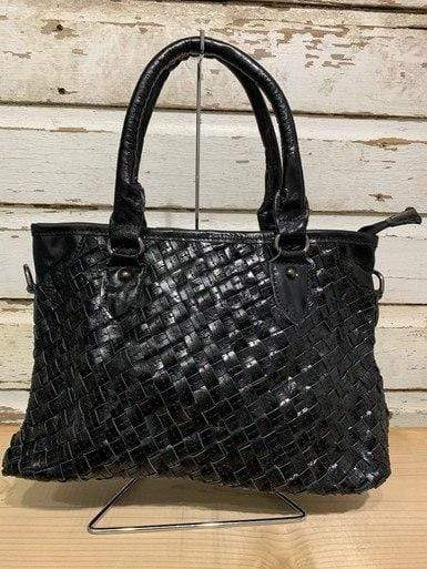 Black Weave Shoulder/Crossbody Bag vendor-unknown