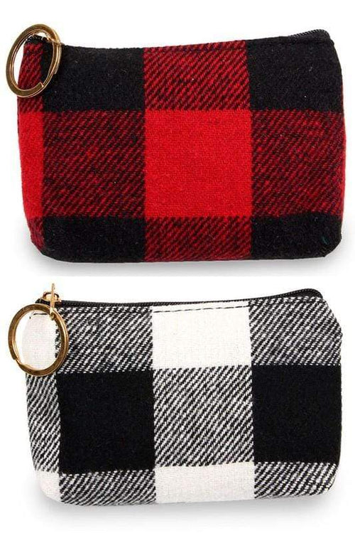 Buffalo Plaid Coin Purse vendor-unknown