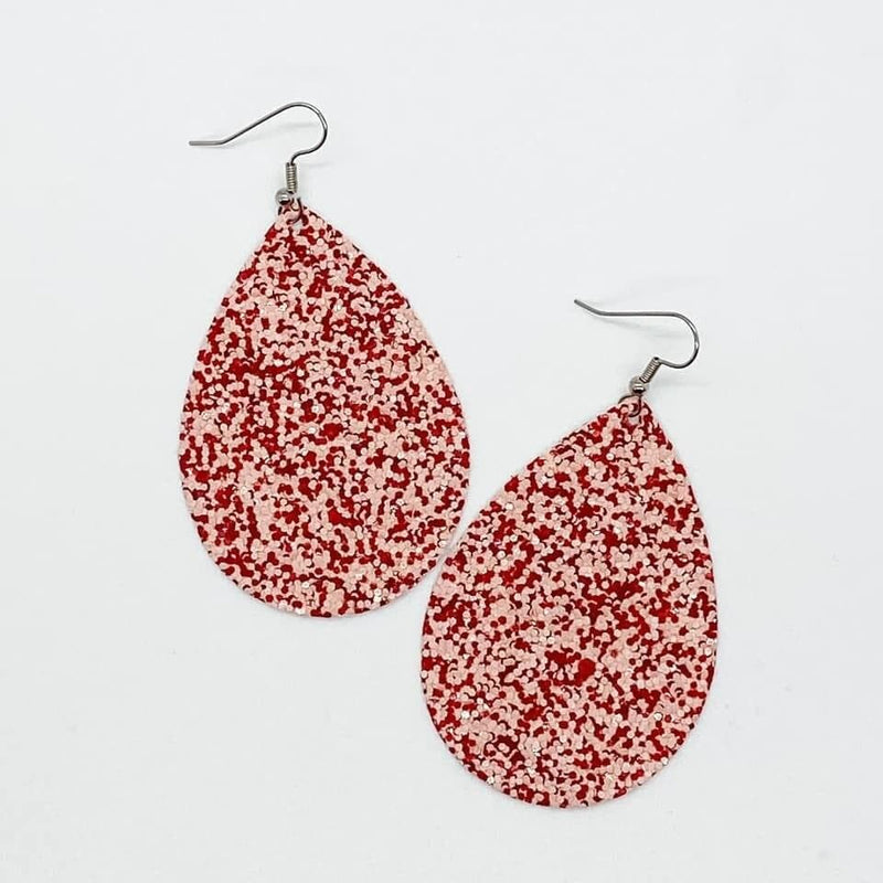 Cupid Glitter Teardrop Earrings vendor-unknown