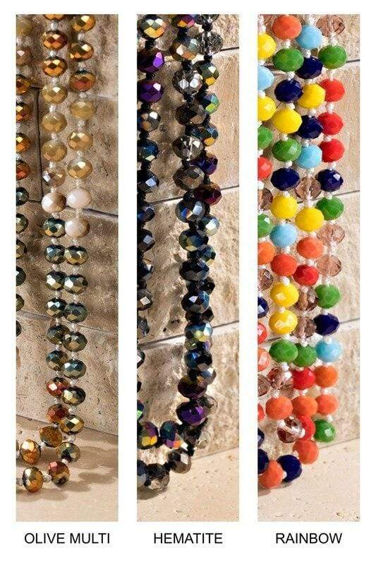 Faceted Glass Bead Layering Necklace vendor-unknown