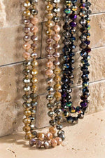 Faceted Glass Bead Layering Necklace vendor-unknown Bronze