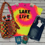 Flourescent Swirl Lake Life Tie Dye Graphic Tee vendor-unknown Small