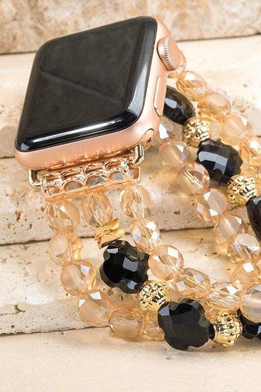 Glass Bead Apple Watch Bracelet vendor-unknown