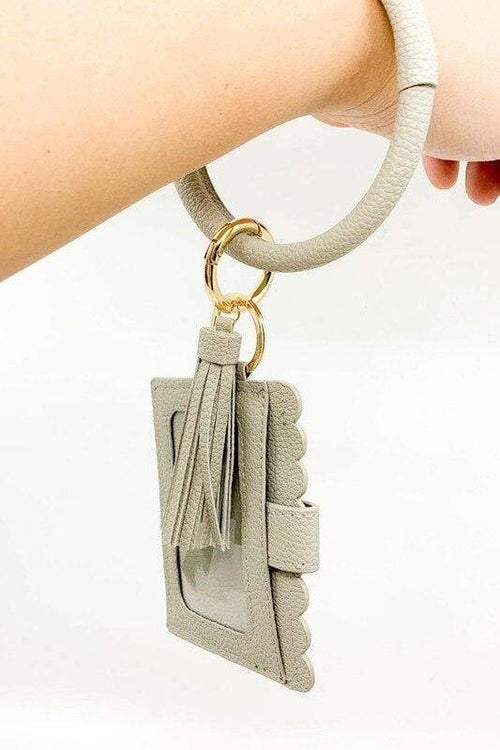 Key Chain Bracelet ID Wallet vendor-unknown Black
