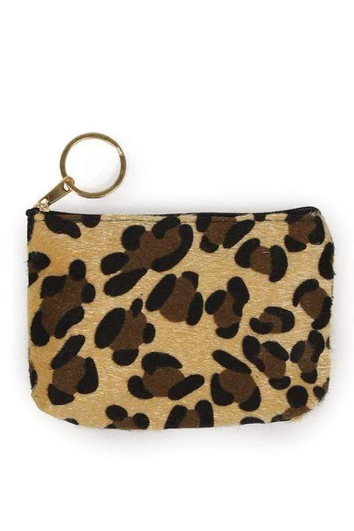 Leopard Print Coin Purse vendor-unknown Beige