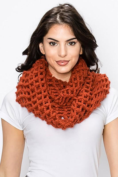 Net Knit Infinity Scarf vendor-unknown