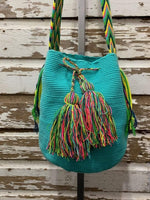 Turquoise Wayuu Mochila Bag vendor-unknown