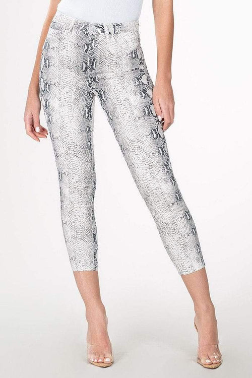 Grey Snake Skin Print High-Rise Flood Jeans YMI 1/25
