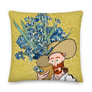 pot of Iris (Premium Pillow)