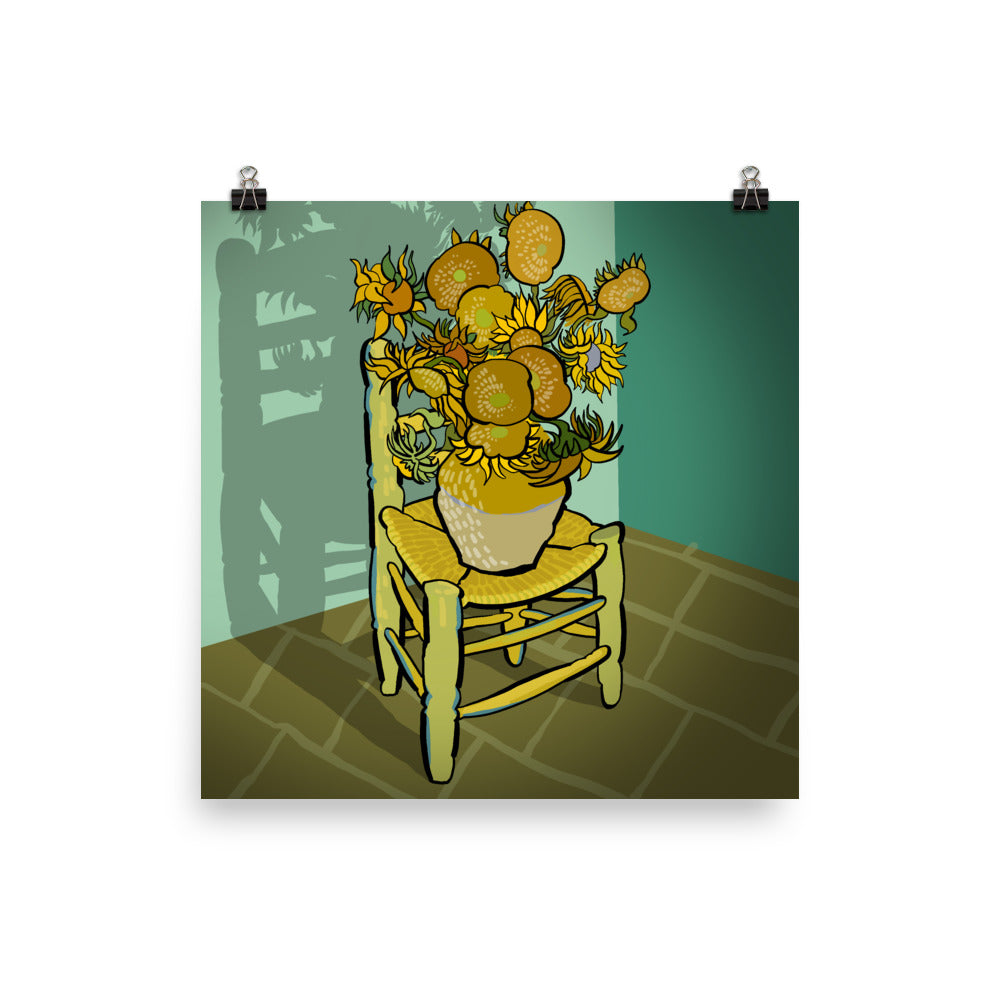 Sunflower vase