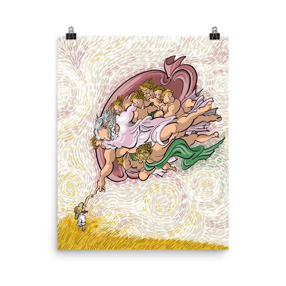 Van Gogh, the creation - Photo paper poster