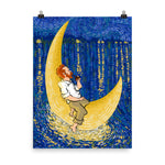 Load image into Gallery viewer, Van Gogh moon (by Alireza KM) - Photo paper poster