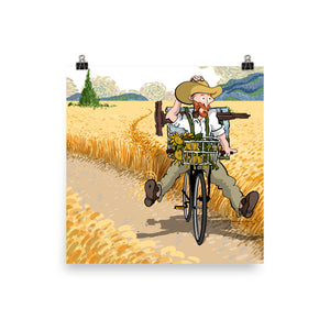 Van Gogh bycicle ride (by Alireza KM) - Photo paper poster