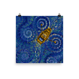 Van Gogh Boat Ride (by Alireza KM) - Photo paper poster