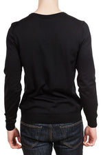 BOSS Melba-P Slim V-Neck Sweater in Black