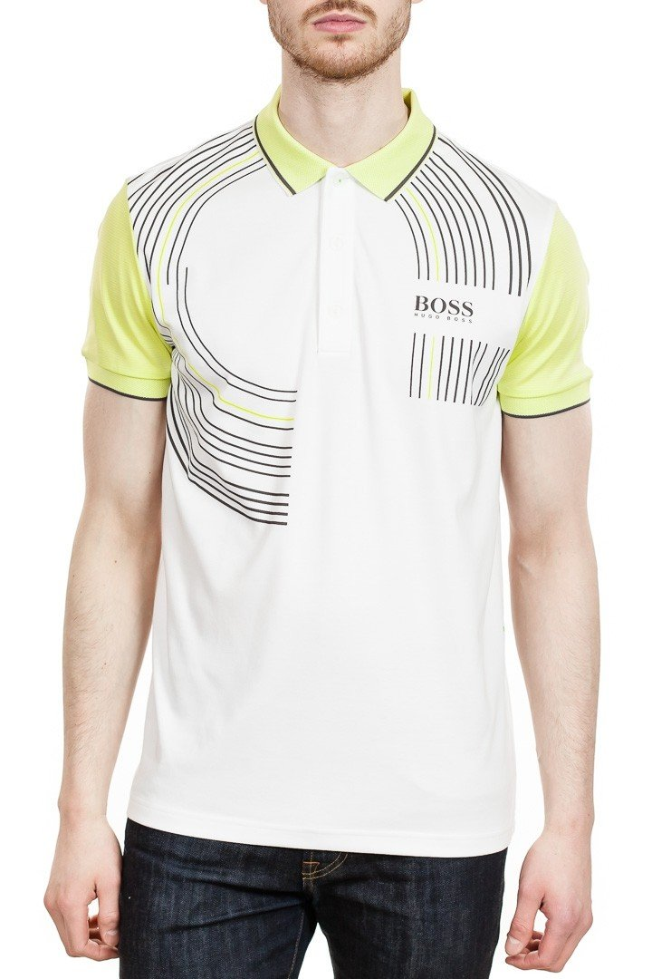 BOSS Paddy Pro 2 Performance Polo in White