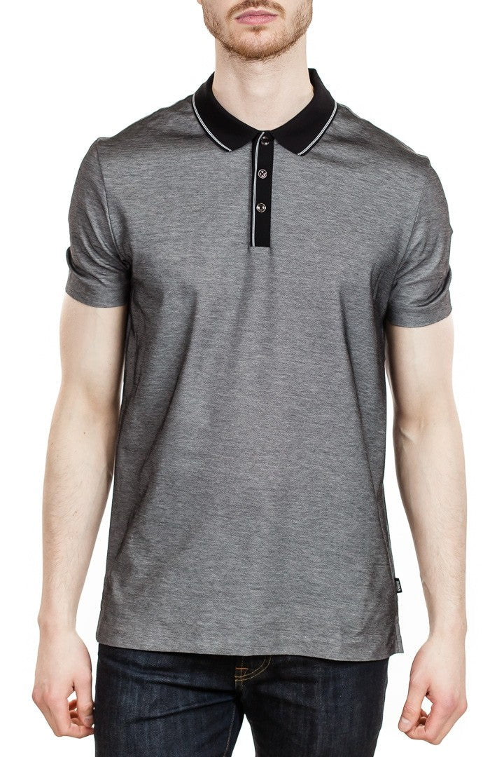BOSS Piket 13 Cotton Polo in Black ?id=14329232719959