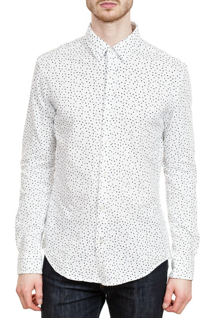 BOSS Ronni Slim-Fit Cotton Jersey Shirt in White