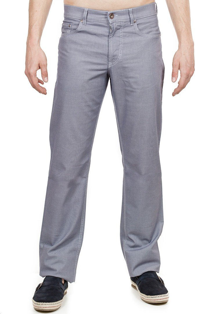 Brax - Cooper Fancy Summer Pinpoint - Cadet Grey