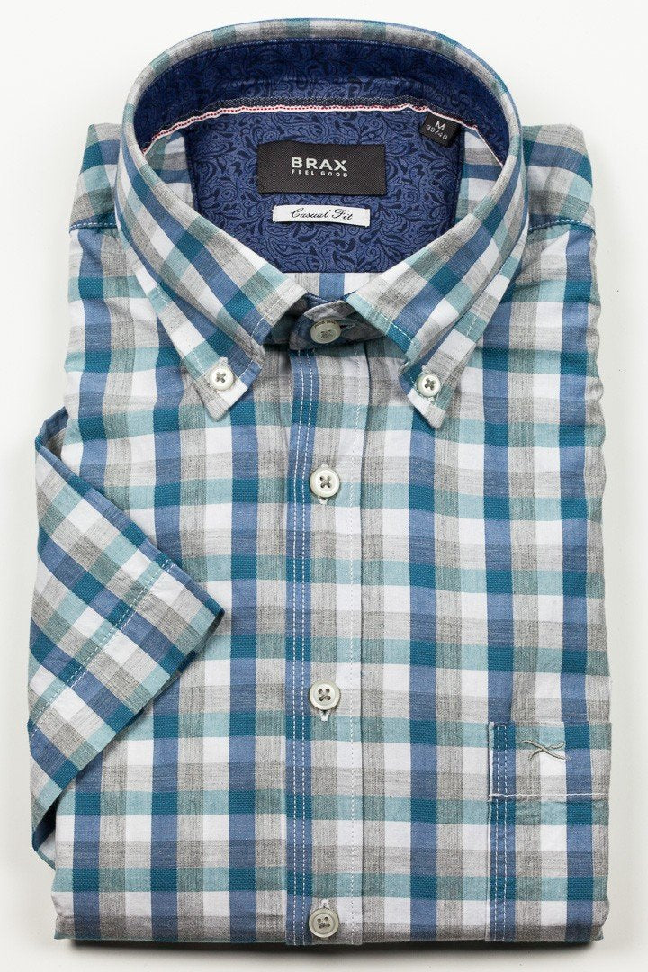 Brax - Drake SS Button Down Shirt - Green