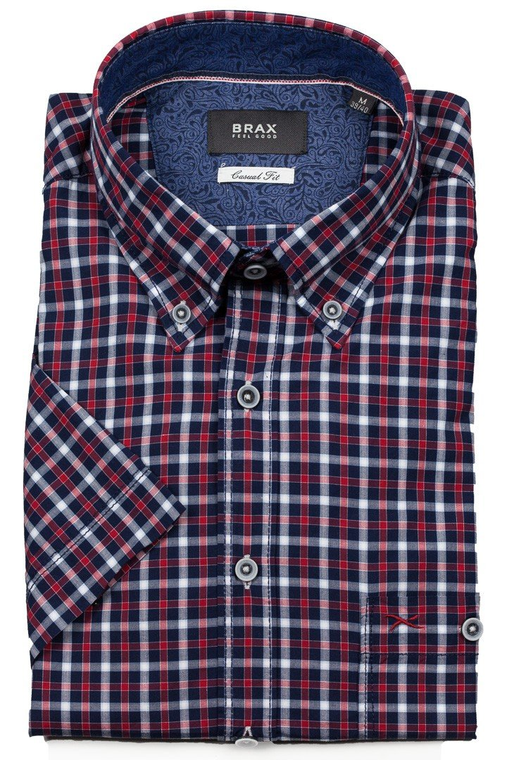 Brax - Drake SS Button Down Shirt - Red