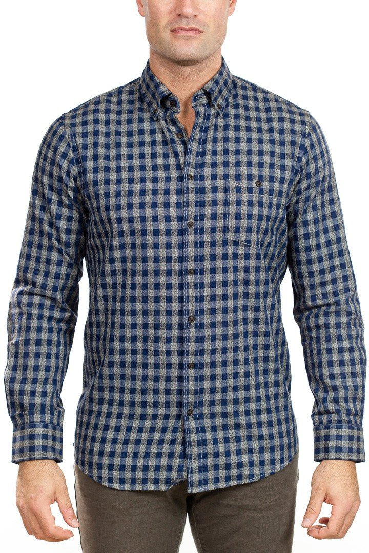Brax - Dries Check Shirt - Blue