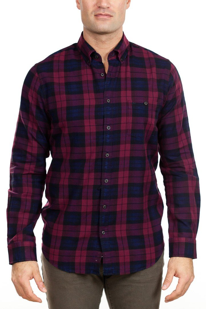 Brax - Dries Check Shirt - Red