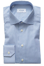 Eton Contemporary Fit Floral Micro Print Shirt