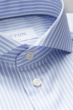 Eton Blue Striped Mechanical Stretch Shirt