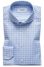 Eton Sky Blue Check Twill Shirt