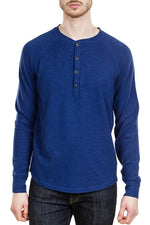 Good Man Brand Soft Slub Henley in Navy ?id=14329201033303