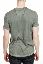 John Varvatos Burnout Tee in Light Olive
