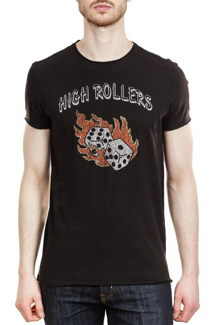 John Varvatos High Rollers Tee in Black