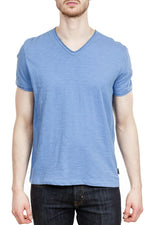 John Varvatos Miles V-Neck Tee in Marine