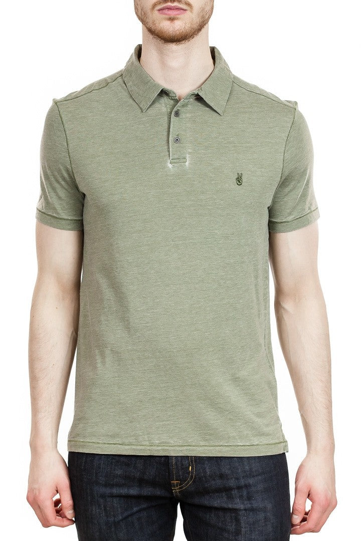 John Varvatos Peace Polo in Moss Heather