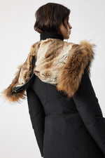 Mackage Akiva Ladies Down Filled Winter Coat With Signature Collar in Black