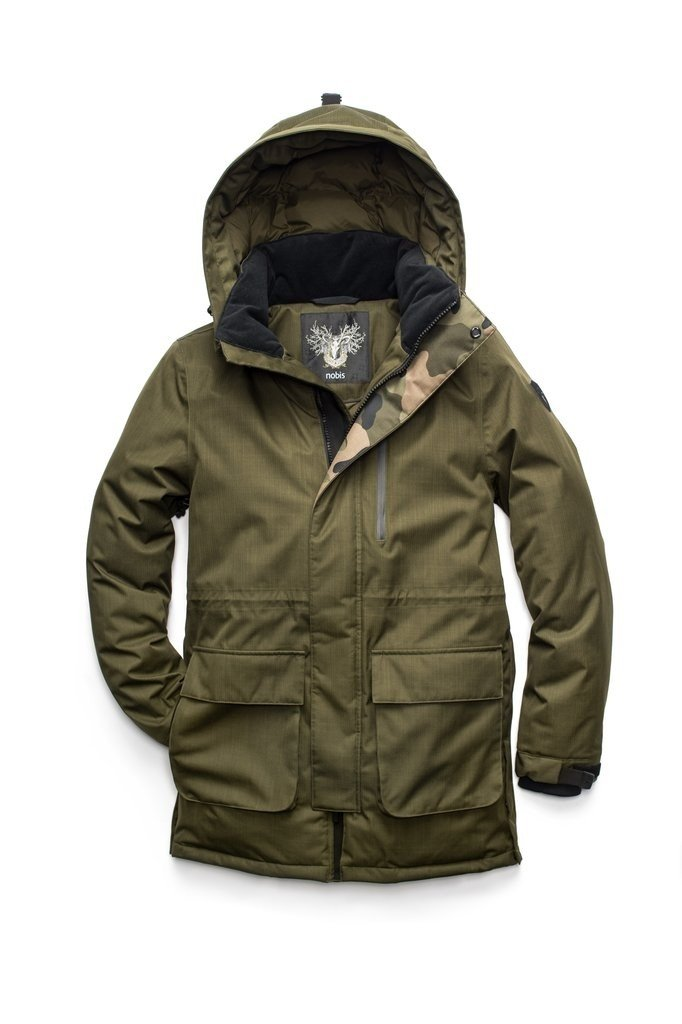 Nobis Martin Mens Hooded Parka in Fatigue