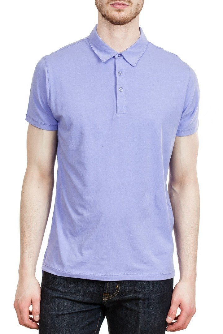 Patrick Assaraf Stretch Lightweight Polo in Purple Moon