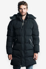 Woodpecker Mens Penguin Long Jacket in Black