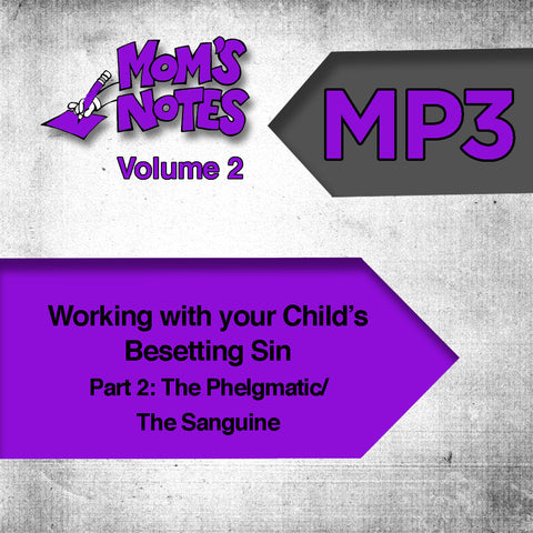 Working With Your Child's Besetting Sin Part 2 MP3