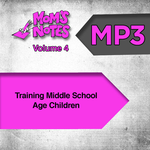 Training Middle School Age Children MP3