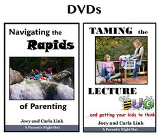 Navigating the Rapids of Parenting & Taming the Lecture Bug DVDs