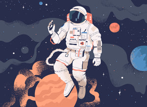 Astronaut Floating Art