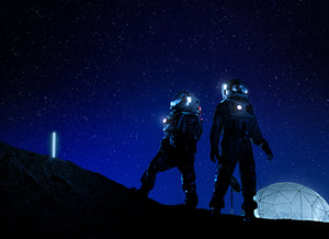 Two Astronauts In Night Sky
