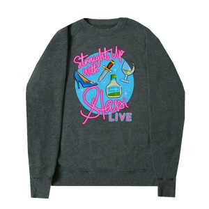 Straight Up With Stassi LIVE Crewneck (GREY)